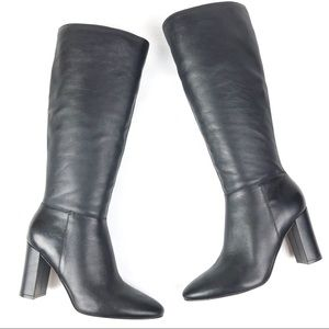 MARC FISHER Zimra Stovepipe boots 9.5 black S48